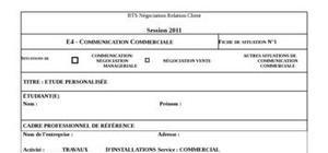 E4 négociation/communication bts nrc - energies renouvelables