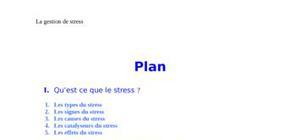 Gestion de stress cause et effet