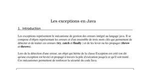 Cours bien detailler sur les exception en java
