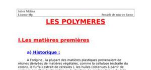 Les polymeres injection