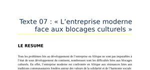 Exposé sur les blocage culturels en afrique
