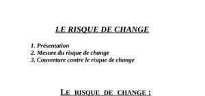 Thème :le risque de change