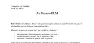 Fusion air france klm