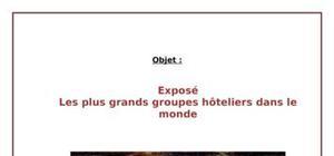 Les plus grands groupes hôteliers dans le monde