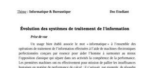Évolution des systèmes de traitement de l'information