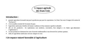 L'espace agricole  des etats-unis