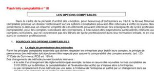Les options comptables