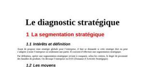 Diagnostic stratégique