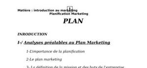 Planification marketing