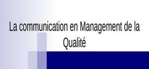 Comunication en qualité