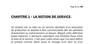 La notion de service
