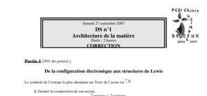 Ds n°1 architecture de la matière durée : 2 heures correction