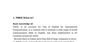 Toeic : 2006 english test