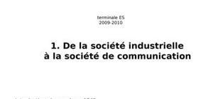 De la société industrielle à la société de communication
