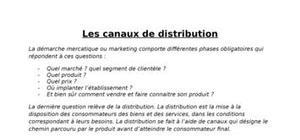 Les canaux de distribution