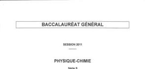Bac Blanc S Physique-Chimie 2012