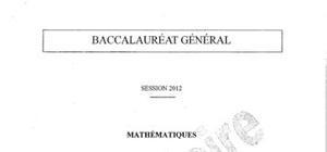 Sujet Bac ES Maths Pondichéry 2012