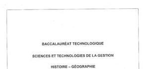 Sujet Bac STG Histoire-Géographie Pondichéry 2012