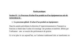 Processus d'achat globale