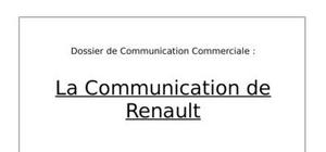 Communciation de renault