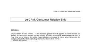 Consumer relation ship