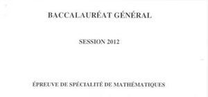 Sujet Bac L Mathématiques Washington 2012