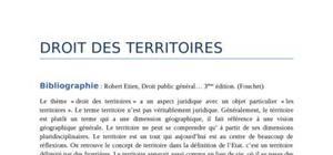Droit des territoires publiques