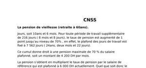 Les modes de calcul de pension de retraite au maroc