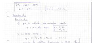 Corrigé Bac Mathématiques STG CGRH 2012
