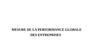 Comment mesurer la performance globale d'une entreprise