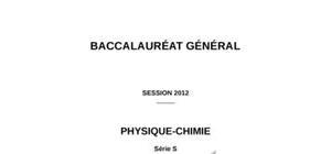 Sujet Physique-Chimie Spé Bac S 2012