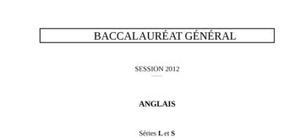Sujet d'Anglais LV2 Bac L 2012