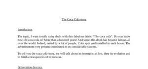 the  coca cola history