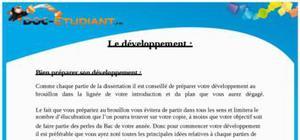 Développement dissertation Philosophie