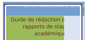 Guide de redaction des rapports de stage