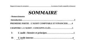 La mission d\'audit comptable et financier