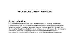 Polycope recherche opérationnelle