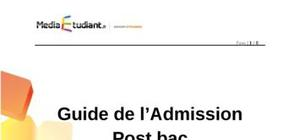 Admission post bac 2011