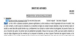 Droit des affaires introduction