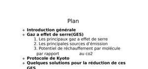 Emission de co2(les gaz à effet de serre)