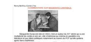Dissertation moderato cantabile l'oeuvre de  marguerite duras