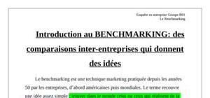 Introduction au benchmarking: des comparaisons inter-entreprises qui donnent des idées
