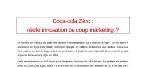 Marketing mix de coca zero