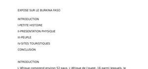 Le burkina faso, un beau pays