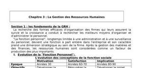 Cours de GRH - Gestion des Ressources Humaines