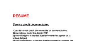 Deroulement du credit documentaire
