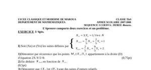 Mathématiques tle s 3e sequence