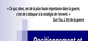 Positionnement et stratégies concurrentielles