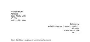 Lettre de motivation technicien de laboratoire