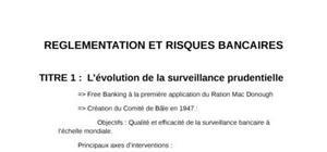 La réglémentation et les risque bancaire